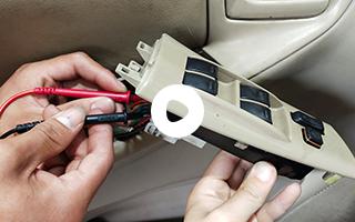 电动车窗开关测量及线路连接